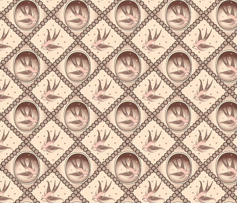 SwallowStyle fabric by janekenstein on Spoonflower - custom fabric