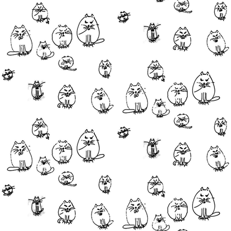 cats_PAPER_2 fabric by nanj on Spoonflower - custom fabric