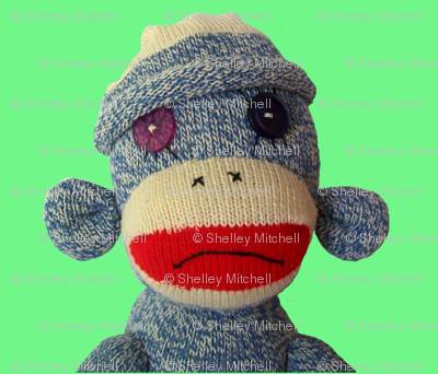 So so sad Sock Monkey