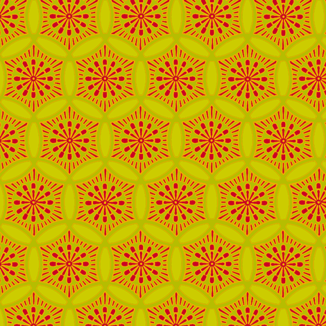 Shashiko Circle Christmas Flower fabric by keweenawchris on Spoonflower - custom fabric