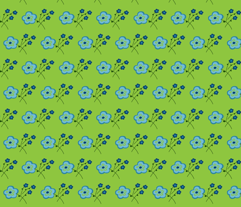 Greenfield Flowers fabric by pmegio on Spoonflower - custom fabric