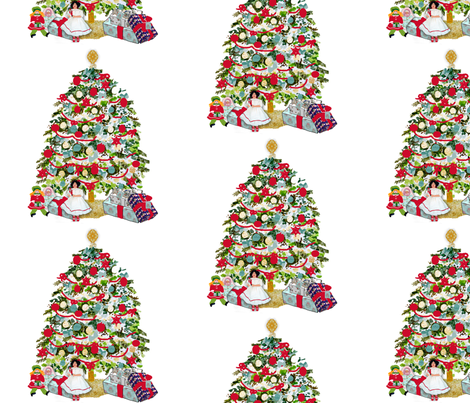 Underneath the Christmas tree fabric by karenharveycox on Spoonflower - custom fabric