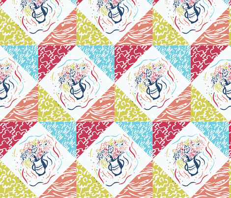 Faux_Matisse_Explore_8x8_130dpi fabric by firebelle on Spoonflower - custom fabric