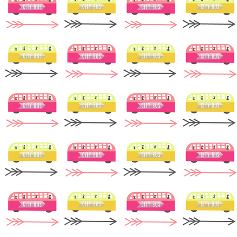 little city bus fabric by anda on Spoonflower - custom fabric