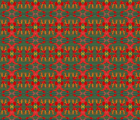 navy sea deer fabric by emanuelletomato on Spoonflower - custom fabric