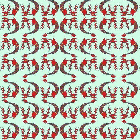 blue deer fabric by emanuelletomato on Spoonflower - custom fabric