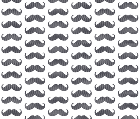 mustache bigger chevron fabric by katarina on Spoonflower - custom fabric