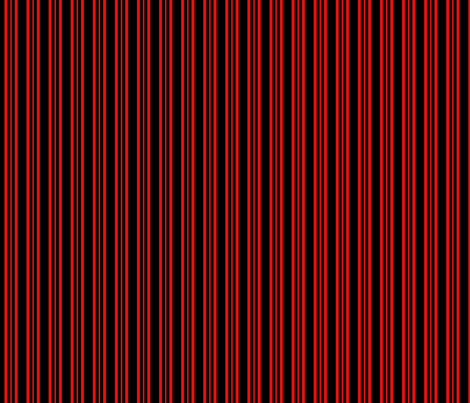Red Dalek - Stripe fabric by catimenthe on Spoonflower - custom fabric