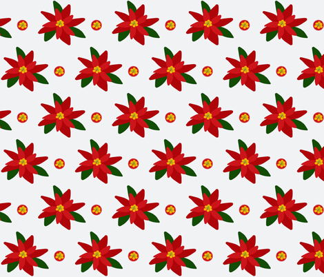 Poinsettia Millefiori fabric by pmegio on Spoonflower - custom fabric