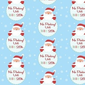 No peeking Until Dec 25th Wrapping paper