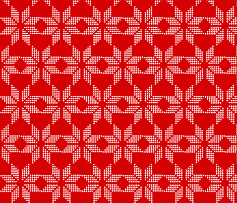 snowflake_red_invert fabric by katarina on Spoonflower - custom fabric