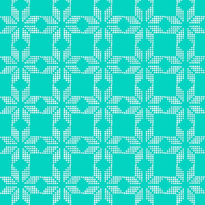 snowflake aqua