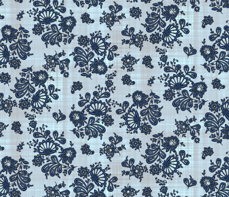 Blue Onion Embroidery fabric by bonnie_phantasm on Spoonflower - custom fabric