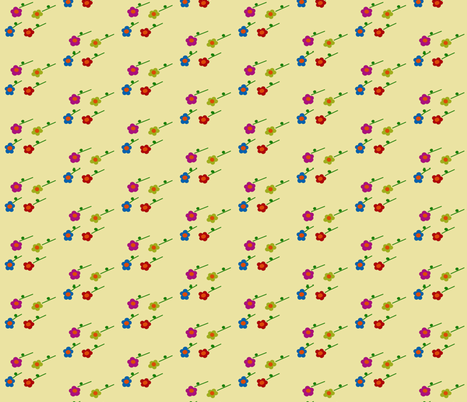 Lttle Flowers fabric by pmegio on Spoonflower - custom fabric