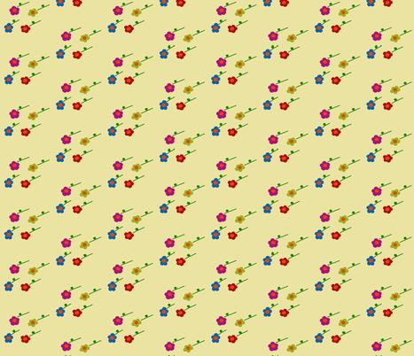 Lttle Flowers fabric by pmegio on Spoonflower - custom fabric