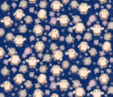 We're not fat, just Adipose fabric by bonnie_phantasm on Spoonflower - custom fabric