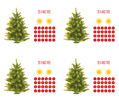 2D Christmas Tree fabric by european-skies on Spoonflower - custom fabric