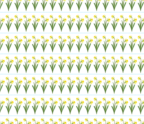 Spring Daffodils fabric by diane555 on Spoonflower - custom fabric