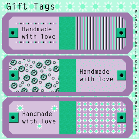 Gift Tags fabric by nezumiworld on Spoonflower - custom fabric