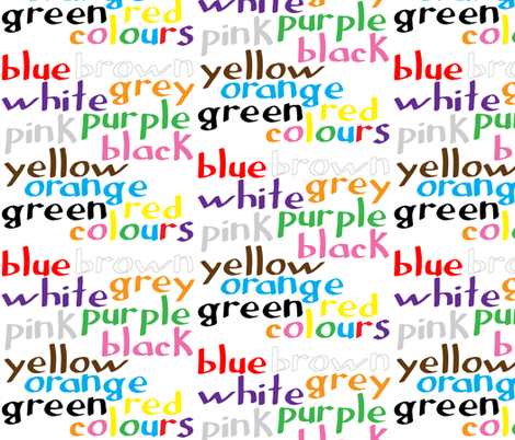 Geek coloured words fabric by greennote on Spoonflower - custom fabric