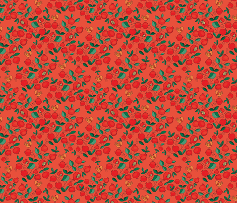 pomegranate tree fabric by dariara on Spoonflower - custom fabric