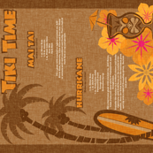 Tiki Towel - coconut