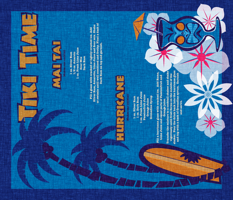 Tiki Towel - lagoon fabric by thecalvarium on Spoonflower - custom fabric