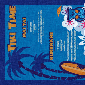 Tiki Towel - lagoon