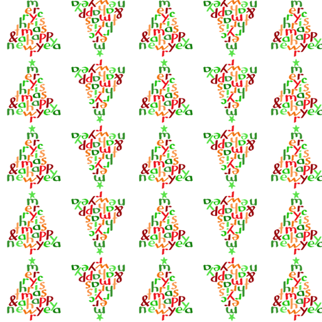 Merry Christmas (2 small) fabric by greennote on Spoonflower - custom fabric