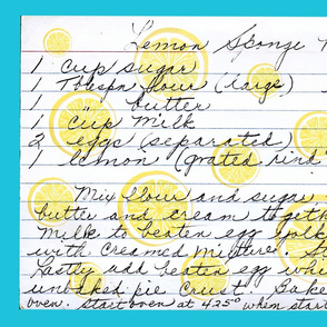 Lemon Sponge Pie Recipe tea towel