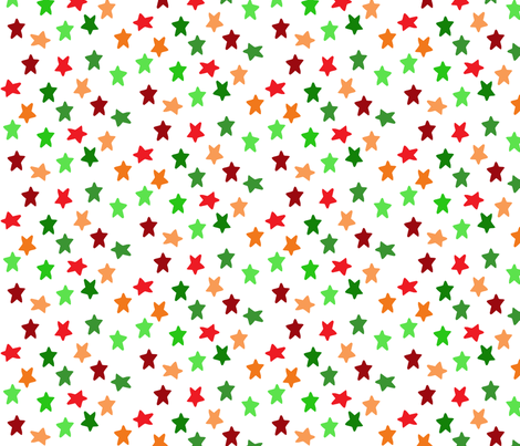 Christmas Stars fabric by greennote on Spoonflower - custom fabric