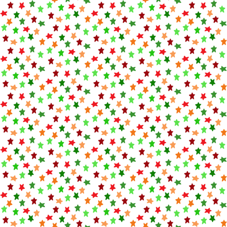 Christmas stars (small) fabric by greennote on Spoonflower - custom fabric