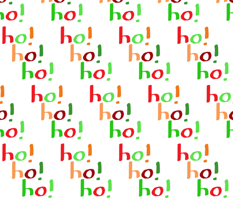 Ho! Ho! Ho! (large) fabric by greennote on Spoonflower - custom fabric