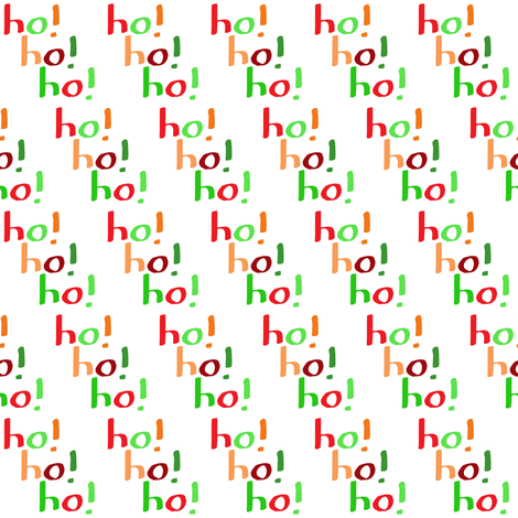 Ho! Ho! Ho! (small) fabric by greennote on Spoonflower - custom fabric