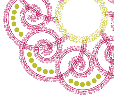 Ceiling Medallion for Girls Room fabric by fridabarlow on Spoonflower - custom fabric