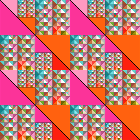 Mod Triangles in Bright colors fabric by joanmclemore on Spoonflower - custom fabric
