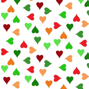 Christmas hearts (large)