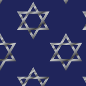 Blue and Silver Hanukkah Star of David