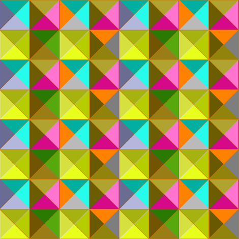 Mod Triangles bright without black fabric by joanmclemore on Spoonflower - custom fabric