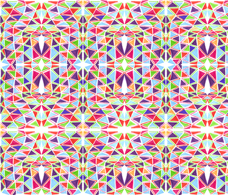 triangle mosaic fabric by kcs on Spoonflower - custom fabric