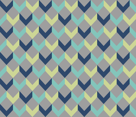 Arrows in Navy fabric by allisajacobs on Spoonflower - custom fabric