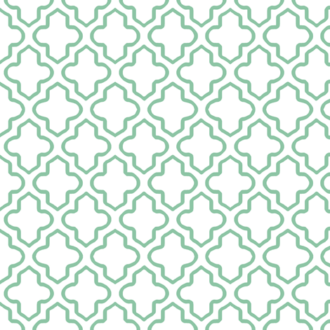 Hollow Moroccan Quatrefoil in Mint Green - Small fabric by fridabarlow on Spoonflower - custom fabric