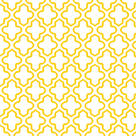 Hollow Moroccan Quatrefoil in Sunny Yellow - Small fabric by fridabarlow on Spoonflower - custom fabric