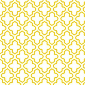 Hollow Moroccan Quatrefoil in Sunny Yellow - Small