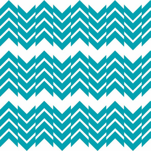 Abstract Chevron Turq