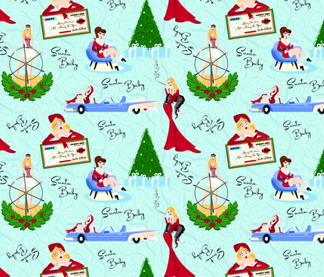 Santa Baby fabric by elizabethhamptonsouth on Spoonflower - custom fabric