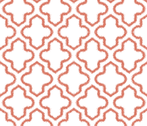 Ikat Moroccan in Tuscan Mud fabric by fridabarlow on Spoonflower - custom fabric