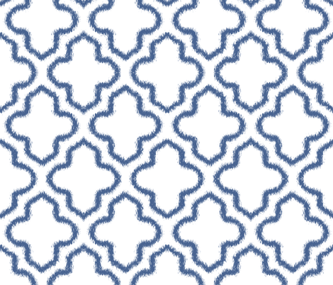 Ikat Moroccan in Indigo Blue fabric by fridabarlow on Spoonflower - custom fabric