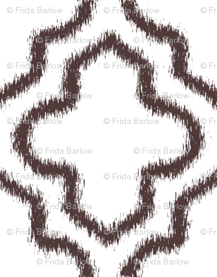 Ikat Moroccan in Chocolate Brown