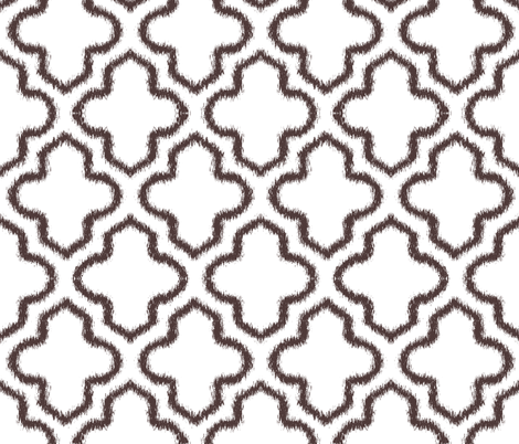 Ikat Moroccan in Chocolate Brown fabric by fridabarlow on Spoonflower - custom fabric